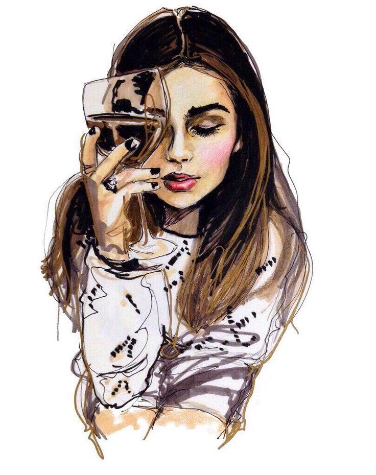 Рисунки с девушками крутые