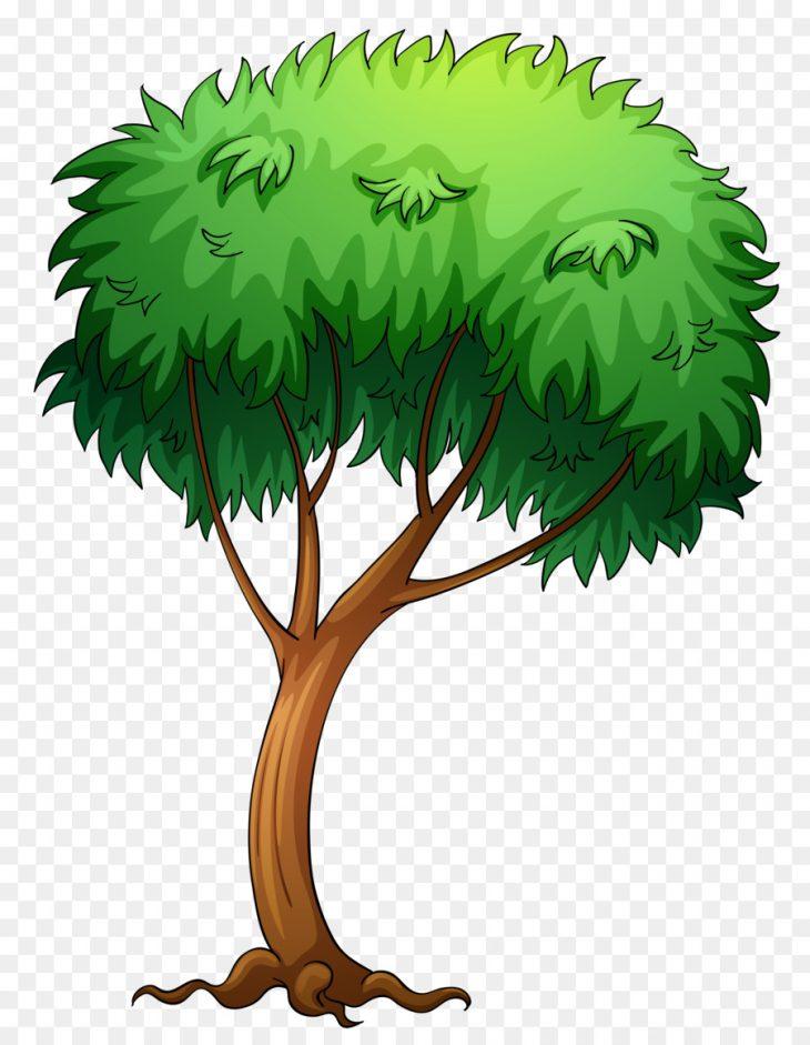 Нарисованная картинка дерева для детей