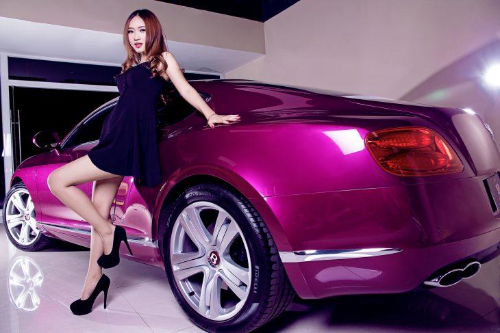 Красивые картинки на авто для девушек фото