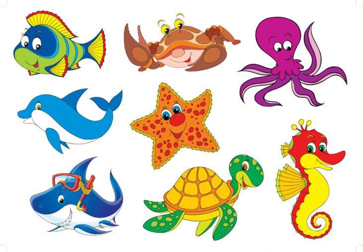 Морские жители картинка детская