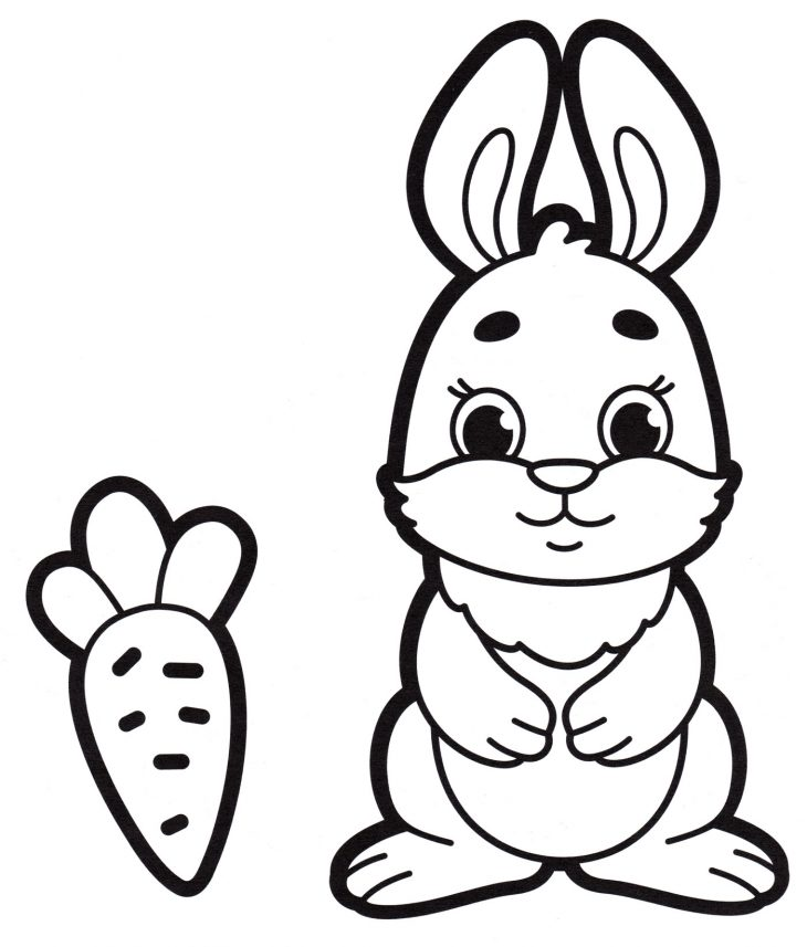 Картинки зайца разукрашка