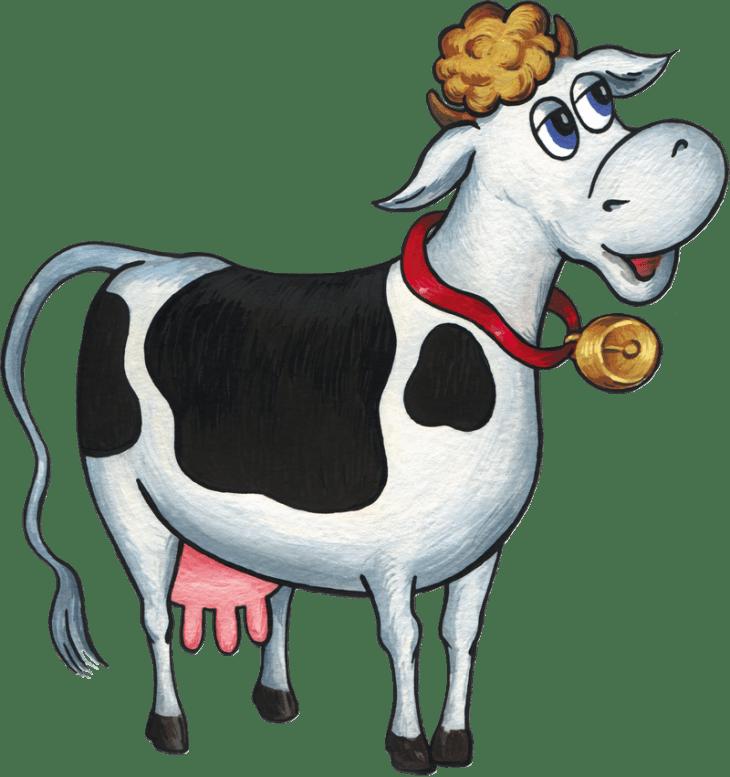Корова мычит картинка для детей на прозрачном фоне