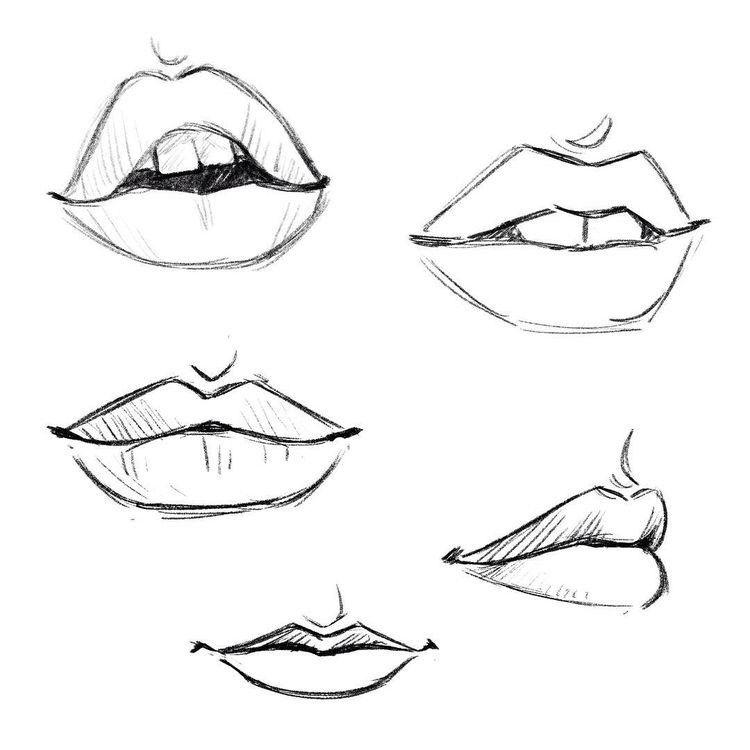 картинки рта карандашом субъект