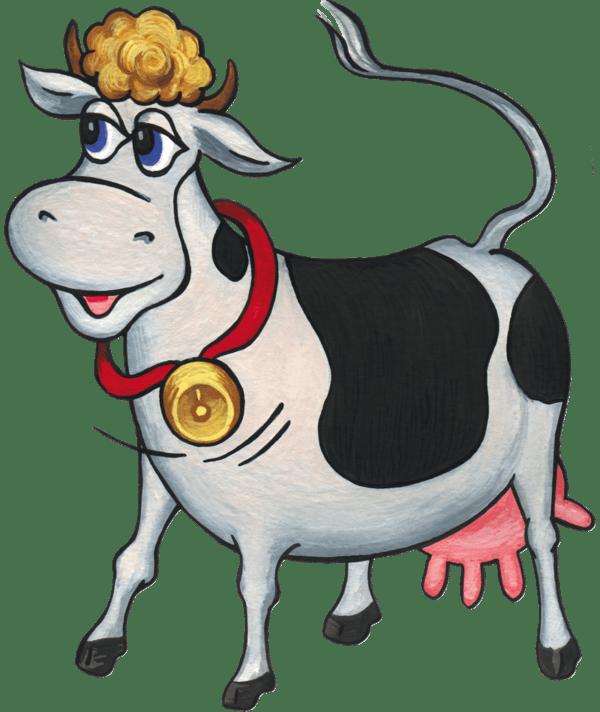Мультяшные коровы картинки