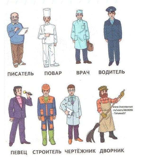 Одежда профессий картинки для детей