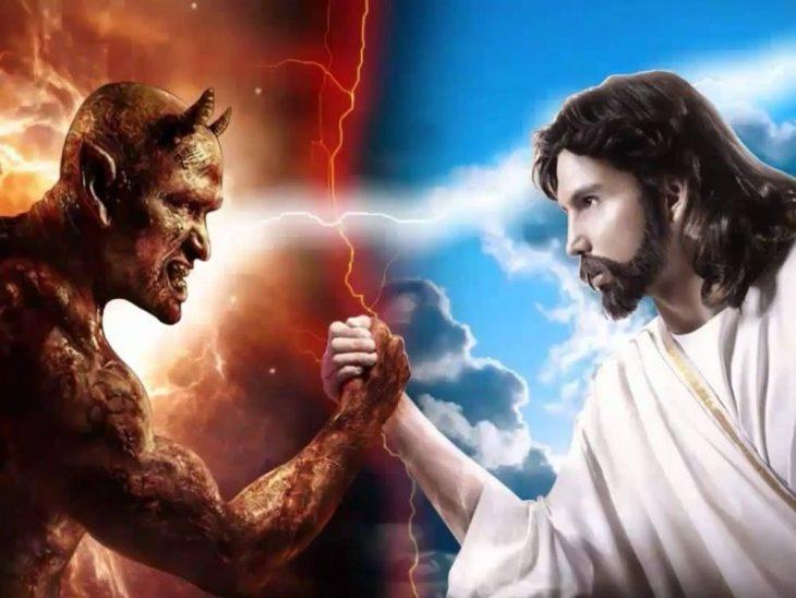 Бог с дьяволом картинка