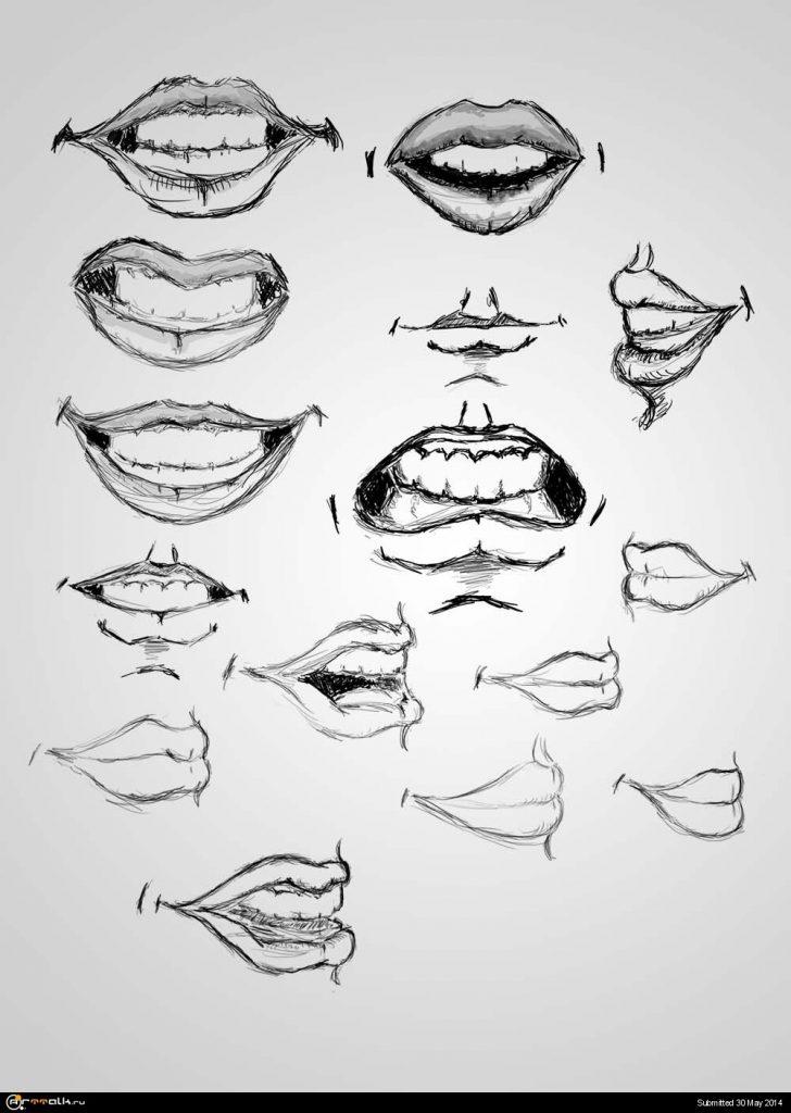 жгут картинки рта карандашом желанию или