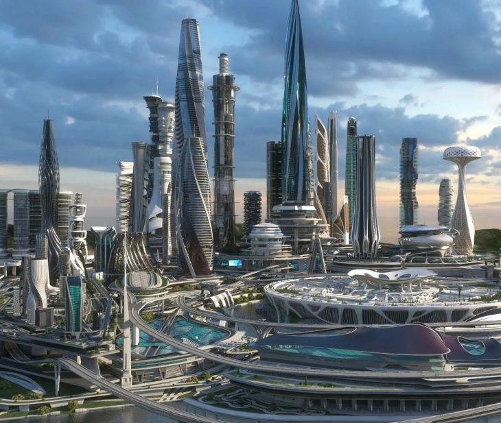 Город будущее картинки