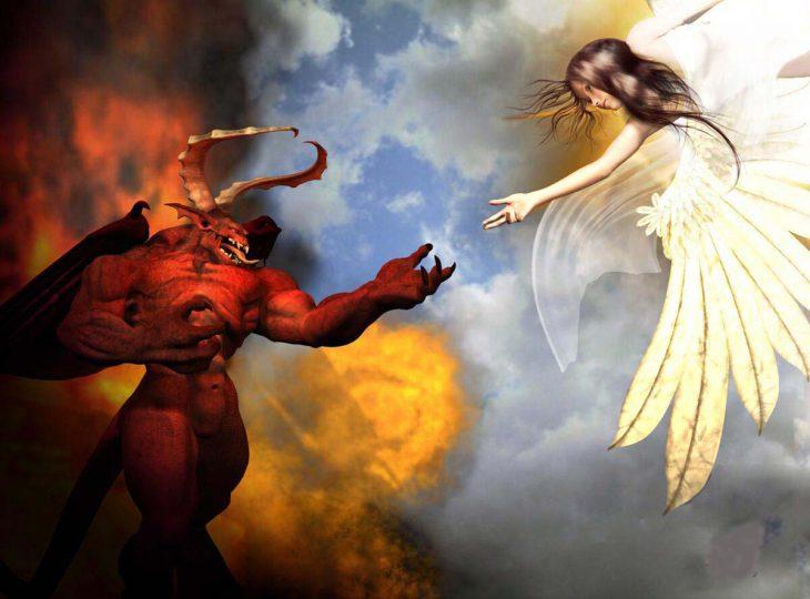 данной фото ангел и бес могут появиться полосы