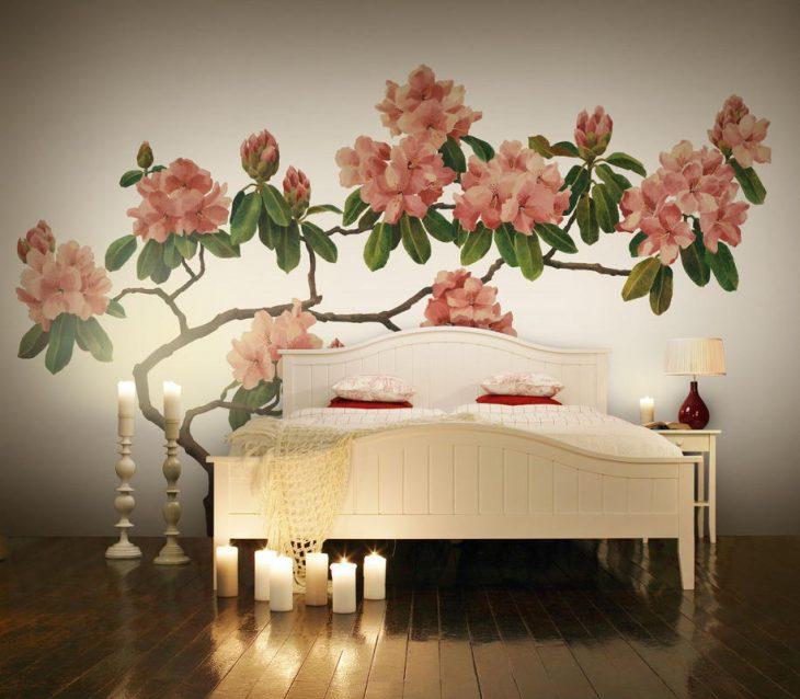 Красивые цветы на стене картинки