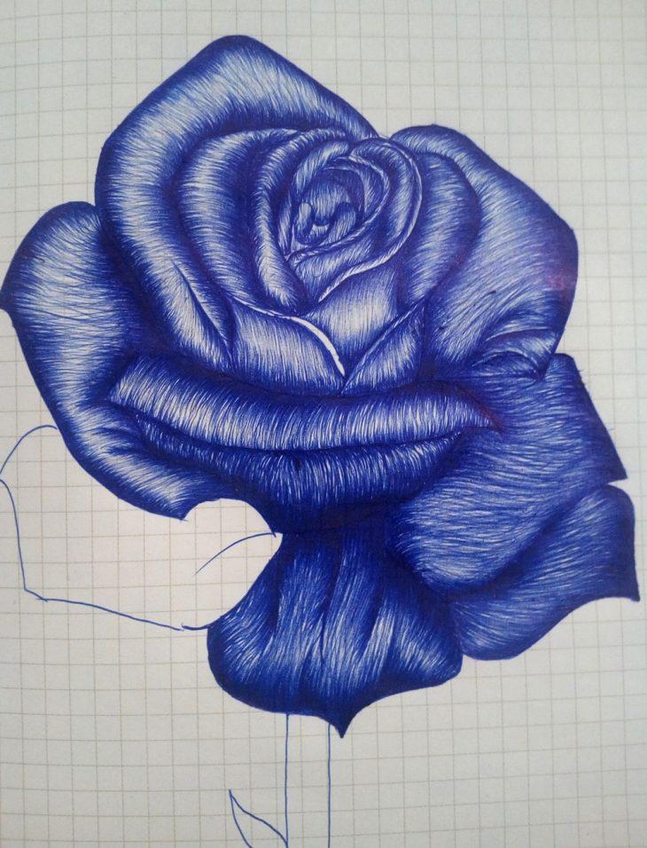 Картинки нарисованные ручкой цветы