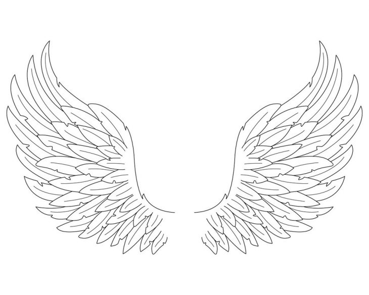 Крылья картинки распечатать для