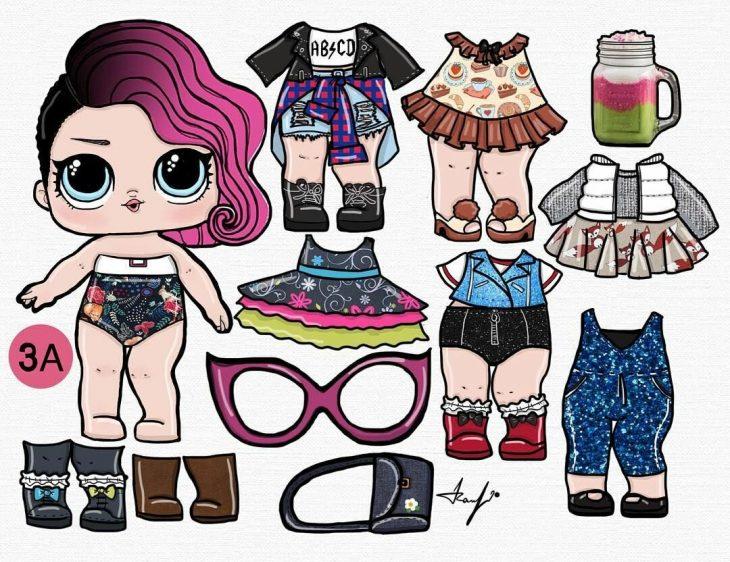 этот раскраска одежды для кукол лол отлично подходит густые