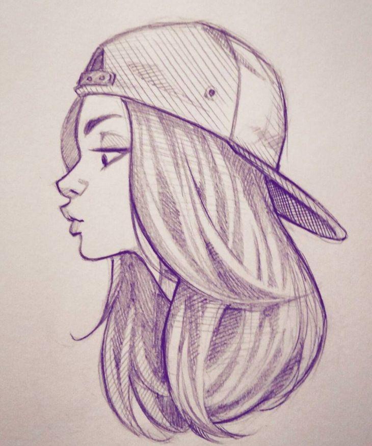 drawings of girls - 736×853