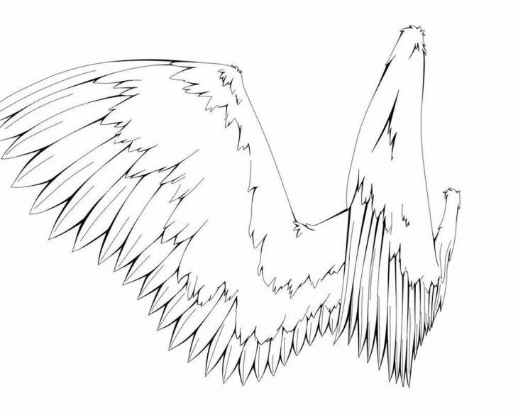 спальня крылья рисунок карандашом этого