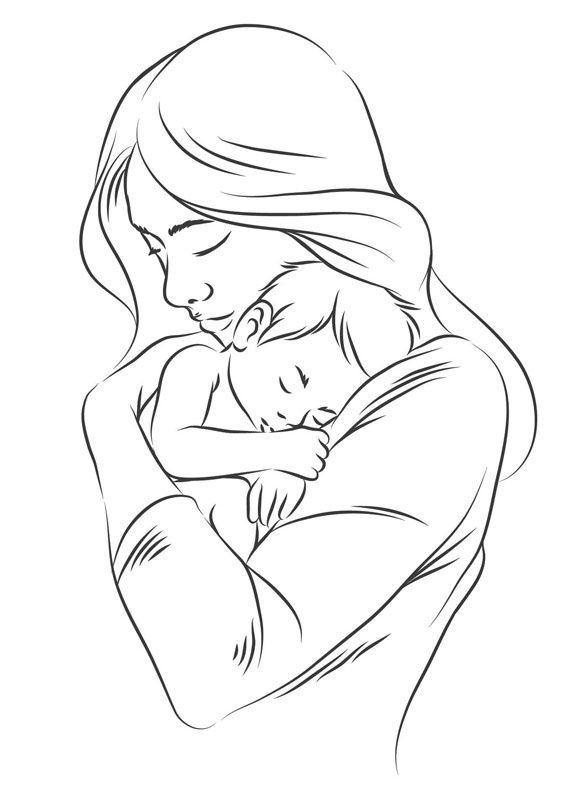 Как нарисовать рисунок на день матери