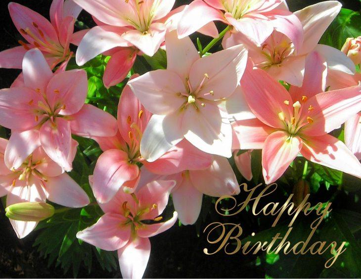 Открытка к дню рождения лилии