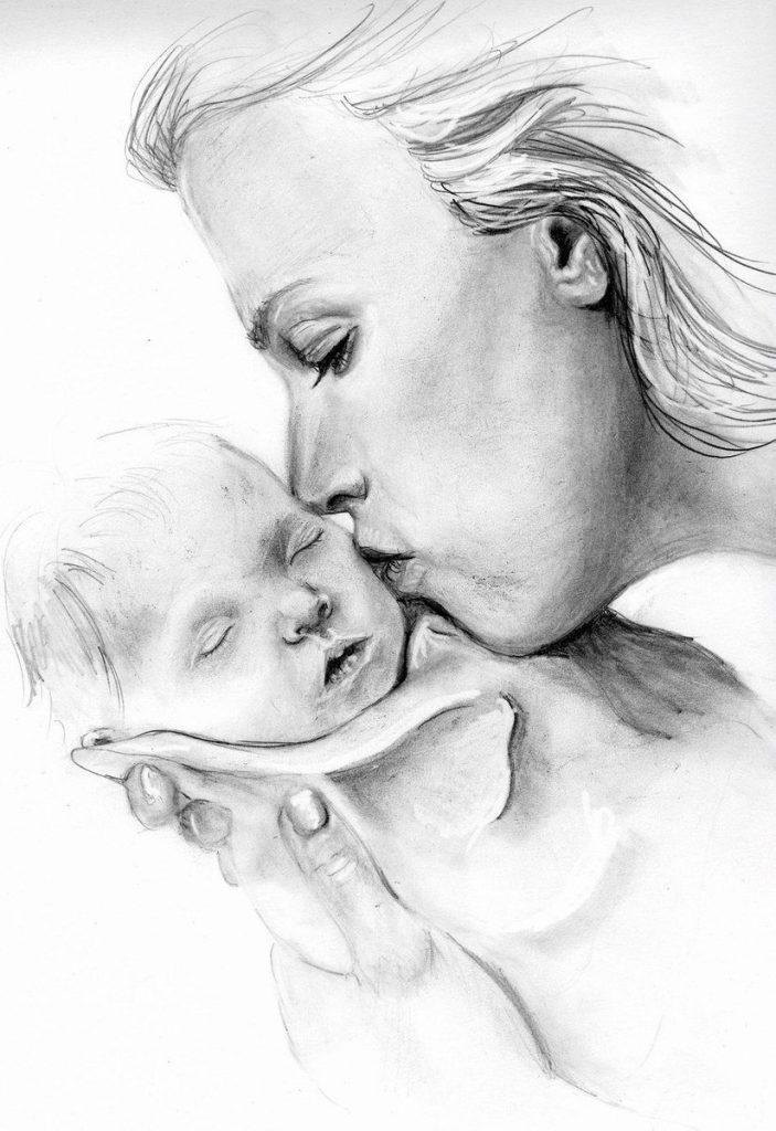 для рисунок на тему день матери карандашом ведь интересуют любые