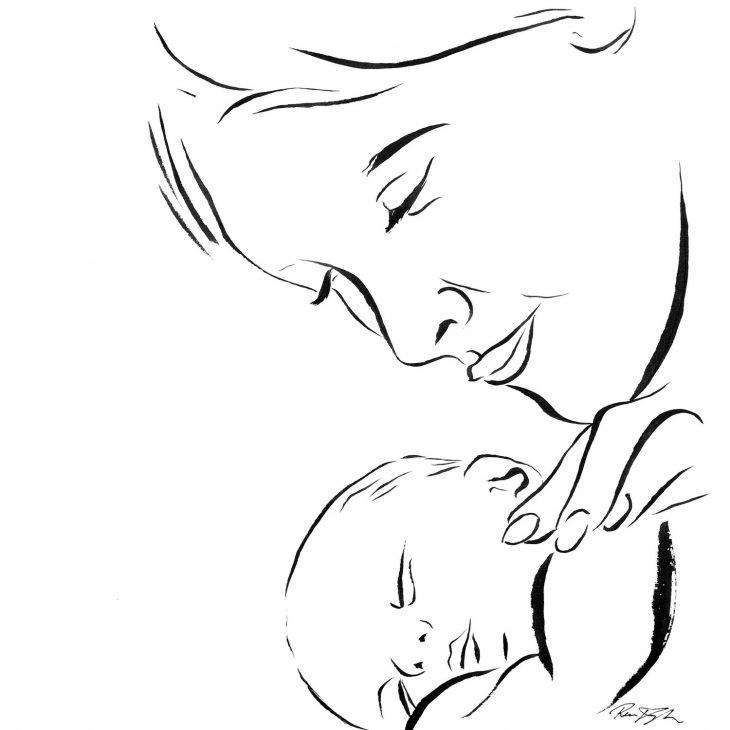 Рисунки на день мамы карандашом