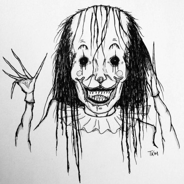 Рисунок страха карандашом